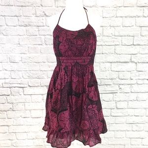 Ecote Urban Outfitters Floral Halter Dress Sz S